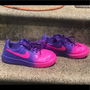 Custom painted Nike Air Force ones size 4